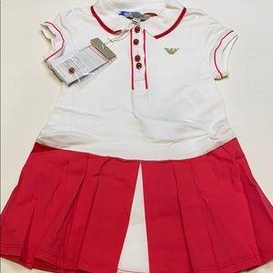 BNWT Armani Baby Tennis Dress